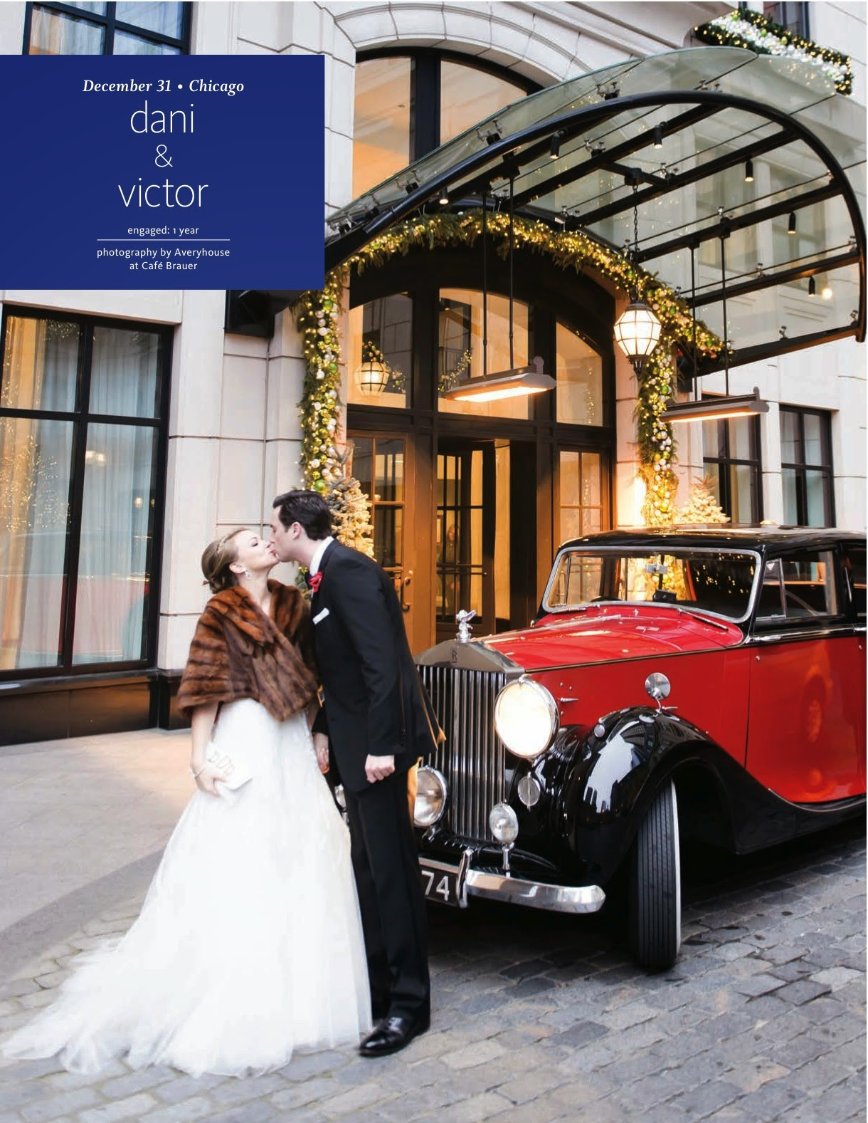 New Year's Eve Chicago Wedding Feature in The Knot Chicago