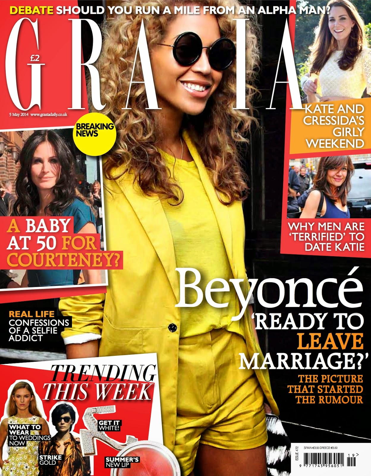 2014 Wedding Trends Feature in Grazia