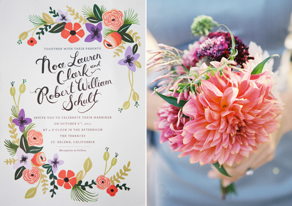 Best Wine Country Wedding Feature on Snippet & Ink