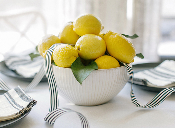 Press: DIY Lemon Centerpiece Feature on Snippet & Ink