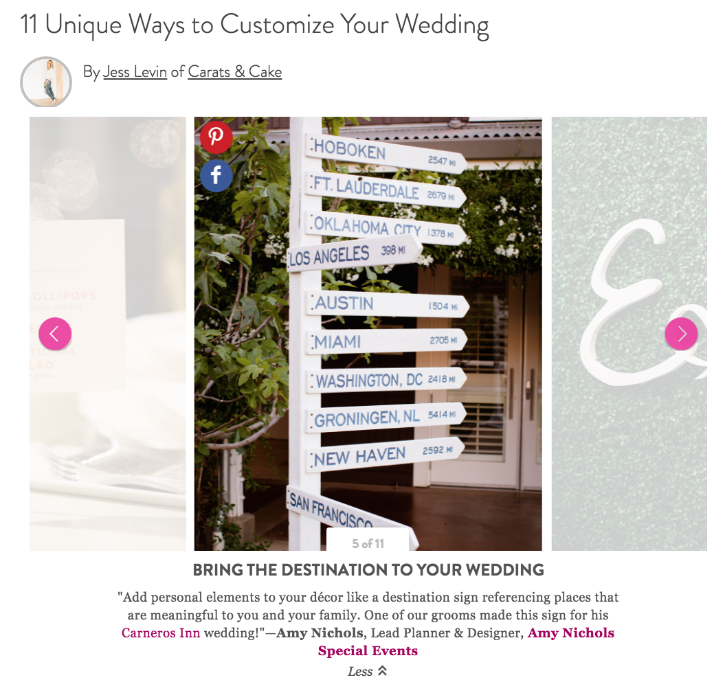 Press: Wedding Customization Feature on Martha Stewart Weddings