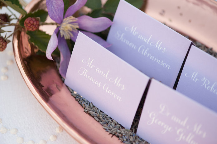 Press: Escort Card Table Design Feature on In Style