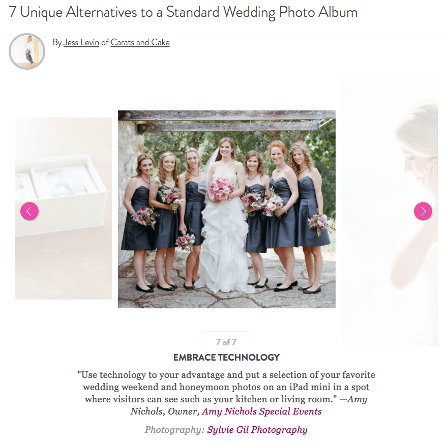 Press: Wedding Album Alternatives Feature on Martha Stewart Weddings