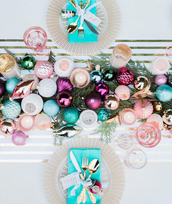 Modern Holiday Tablescape on 100 Layer Cake
