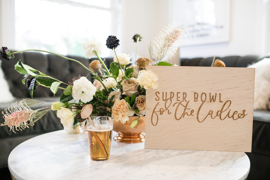 Super Bowl Party Ideas on Style Me Pretty