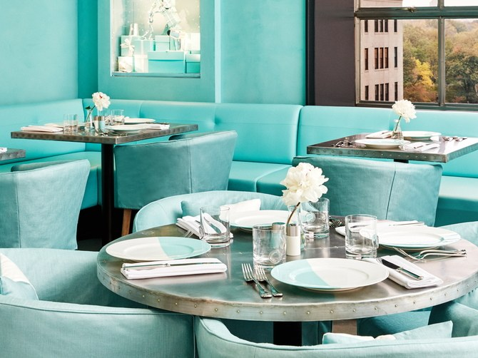 Tiffany Blue Box Cafe´ Tour on Architectural Digest