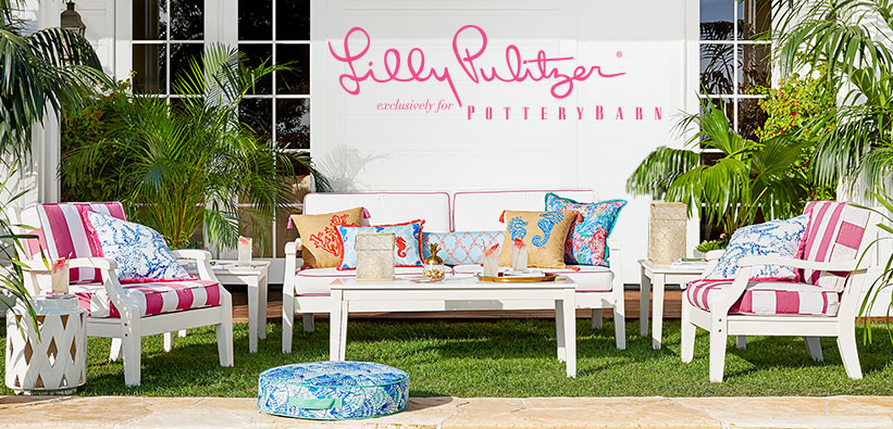 Introducing Lilly Pulitzer + Pottery Barn Collaboration