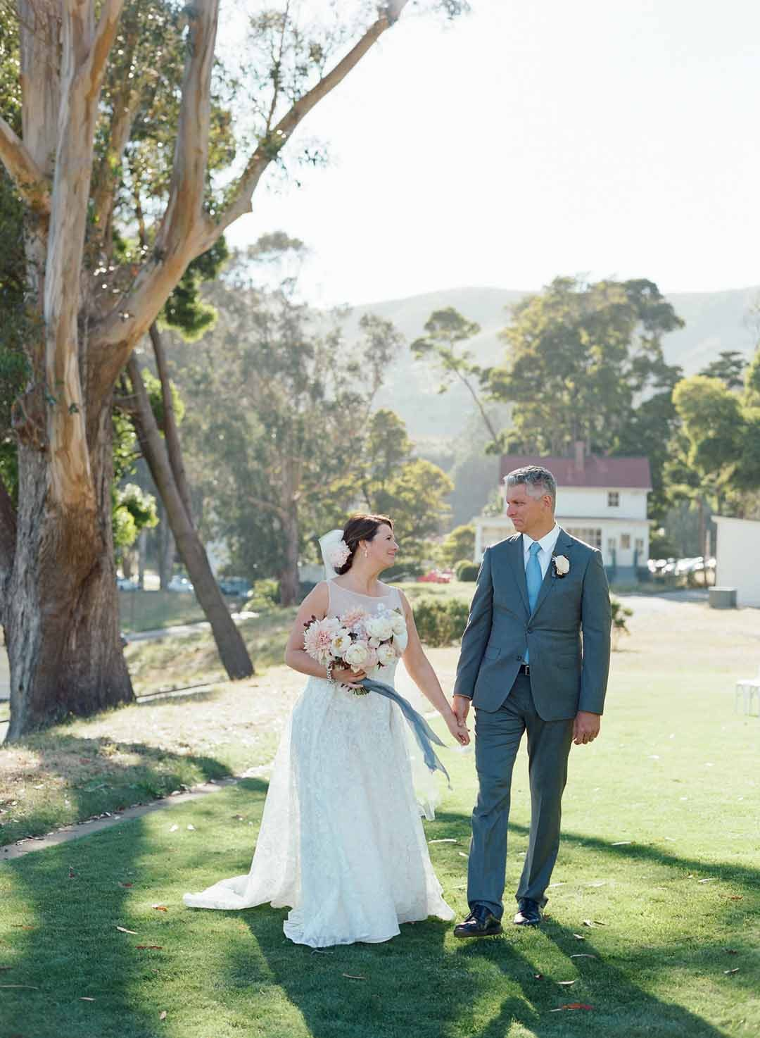 Bride and groom portrait at Cavallo Point, Sausalito   Amy Nichols Special Events