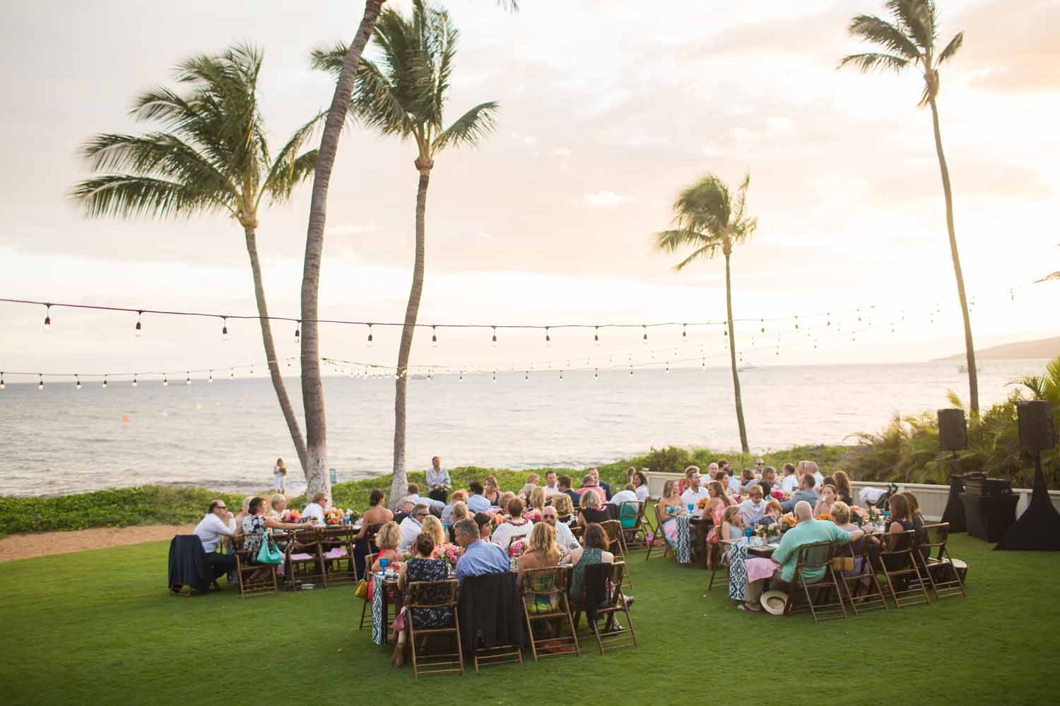 Real Wedding: Tropical, Colorful Maui Wedding Details
