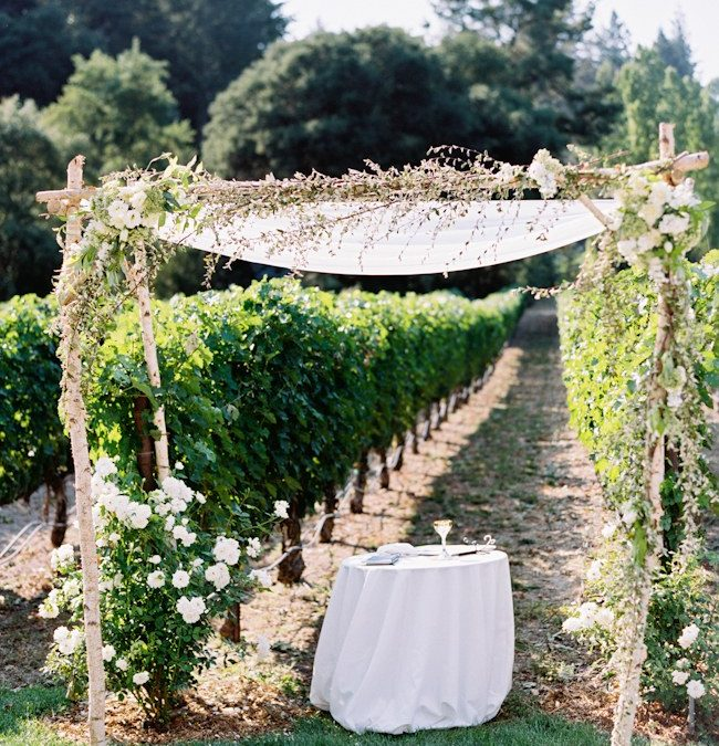 Press: How to Throw a Wedding at a Vineyard from Brides