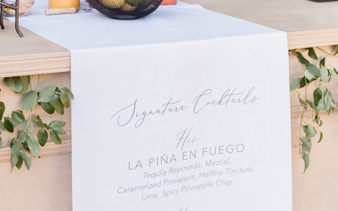 Press: How to Name Your Signature Wedding Cocktail