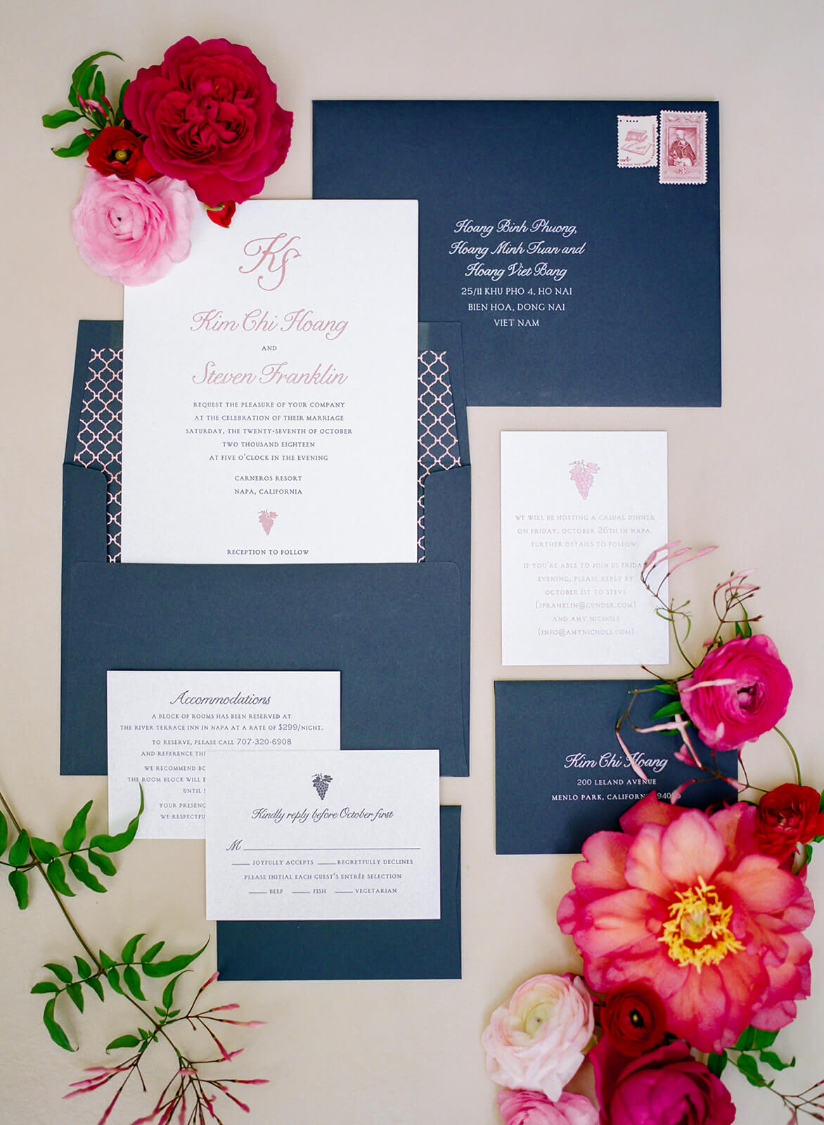 Press: Sophisticated Napa Wedding Style Meets Pops of Color